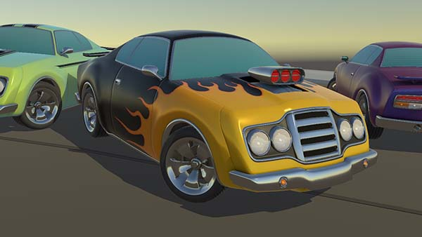 Stylized Hollow Muscle Car